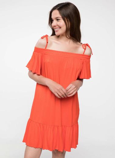 DeFacto İnce Askılı Salaş Elbise Kırmızı